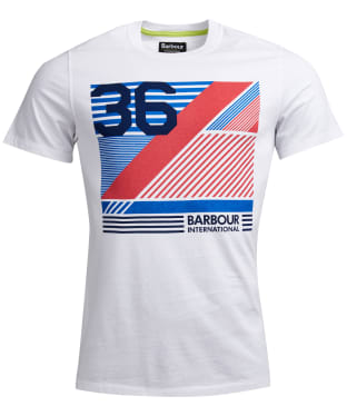 Men's Barbour International Distorted Line Tee - White