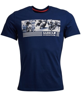 Men's Barbour International Comp Tee - Medieval Blue