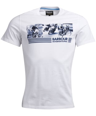 Men's Barbour International Comp Tee - White