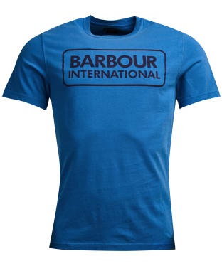 Men's Barbour International Kit Pigment Tee - Brit Blue