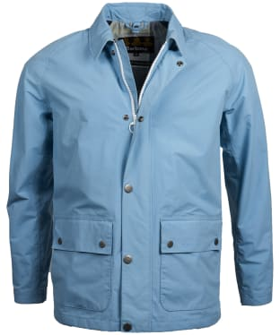 Men's Barbour Storrs Waterproof Jacket - Faded Blue