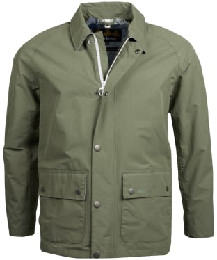 Men's Barbour Storrs Waterproof Jacket - Light Moss