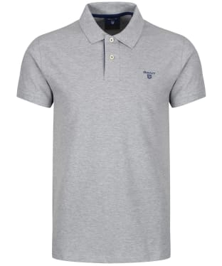Men's GANT Contrast Collar Pique - Grey Melange