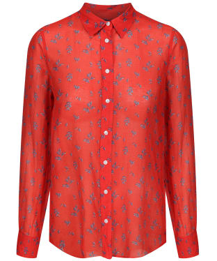 Women's GANT Breezy Cotton Silk Shirt - Blood Orange