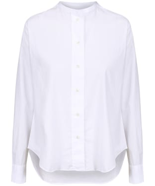 Women's GANT Band Collar Broadcloth Shirt - White