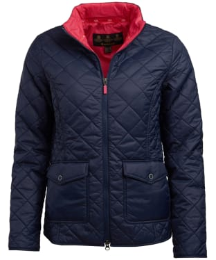 Women's Barbour Helm Quilted Jacket - Navy