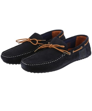 Men's Barbour Eldon Suede Shoes - Navy