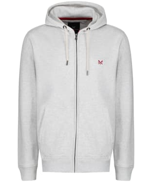 Men's Crew Clothing Zip Through Hoody - Ice Grey Marl
