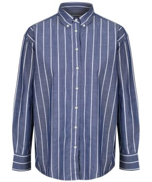 Women's GANT Striped Chambray Shirt - Crisp Blue