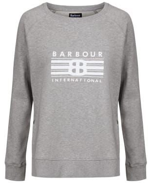 Women's Barbour International Cortina Overlayer - Light Grey Marl