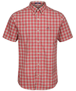 Men's GANT Tech Prep™ Broadcloth Plaid Shirt - Blood Orange