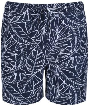 Men's Crew Clothing Linear Leaf Swim Shorts