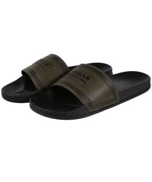 Men's Barbour International Pool Sliders - Olive / Black