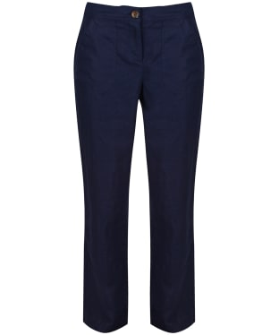 Women's Joules Lindy Linen Trousers - French Navy