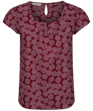 Women's Seasalt Garden Gate Top - Dotty Spots Dark Freesia