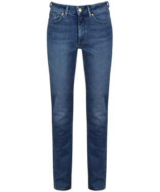 Women's GANT Slim Super Stretch Jeans - Semi Light Indigo