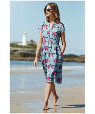 Women's Seasalt Brenda Dress - Jumbo Boats Watercress
