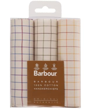 Men's Barbour Tattersall Handkerchiefs - Boxed Set of 3 - Tattersall