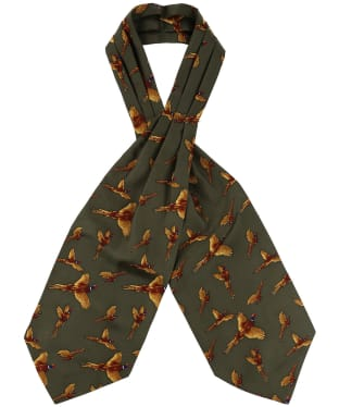 Men's Soprano Country Pheasant Cravat - Green