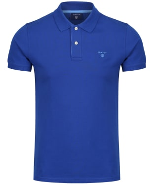 Men's GANT Contrast Collar Pique - Yale Blue