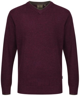 Men's Musto Shooting V-Neck Sweater - Damson