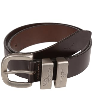"Men's R.M. Williams 1 1/2"" 3 Piece Solid Hide Belt - Chestnut"