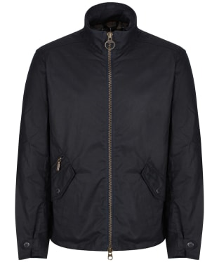 Men's Barbour Claxton Wax Jacket - Navy