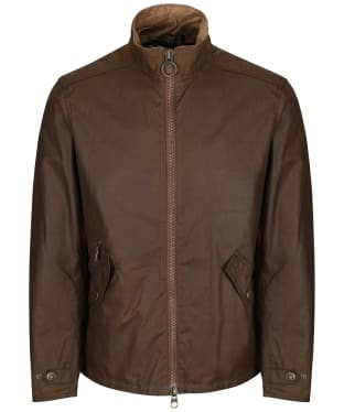 Men's Barbour Claxton Wax Jacket - Dark Sand