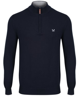 Men's Crew Clothing Classic Half Zip Sweater - Navy