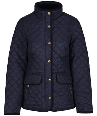 Women's Joules Newdale Quilted Coat - Marine Navy