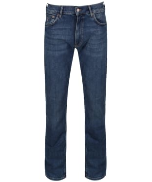 Men's GANT Regular Fit Jeans - Mid Blue Worn In