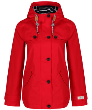 Women's Joules Coast Waterproof Jacket - Red
