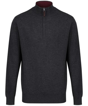 Men's Schoffel Merino ¼ Zip Jumper - Charcoal