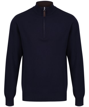 Men's Schoffel Merino ¼ Zip Jumper - Navy