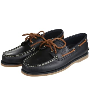 Men's Timberland Classic Boat Shoes - Navy Full Grain