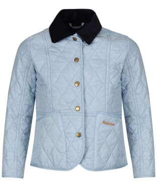 Girls Barbour Summer Liddesdale Quilted Jacket, 10-15yrs - Powder Blue
