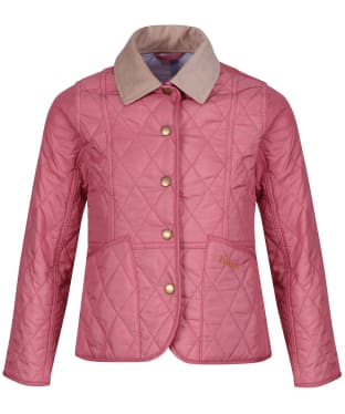 Girls Barbour Summer Liddesdale Quilted Jacket, 10-15yrs - Vintage Rose