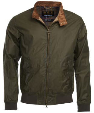 Men's Barbour Lightweight Royston Waxed Jacket - Archive Olive