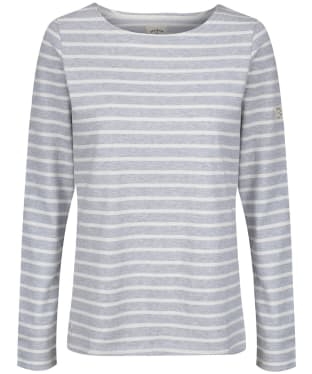 Women's Joules Long Sleeved Harbour Top - Grey Stripe