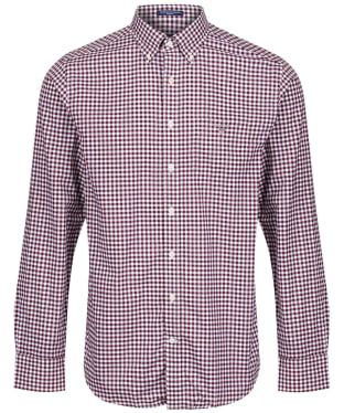 Men's GANT The Regular Broadcloth Gingham Shirt - Port Red