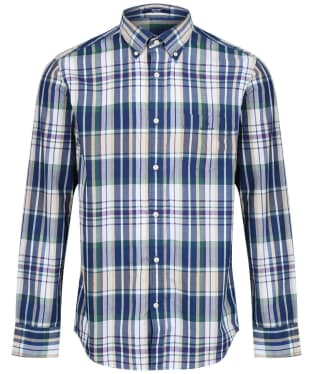 Men's GANT Madras Regular Shirt - Dry Sand