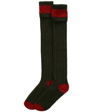 Pennine Byron Socks - Olive / Ruby