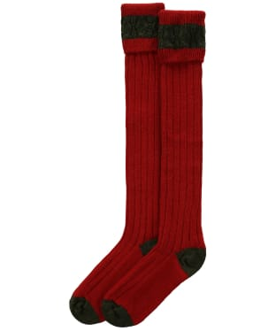 Pennine Byron Socks - Ruby / Olive