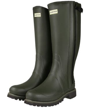 Men's Hunter Balmoral Wide Fit Wellington Boots - Dark Olive