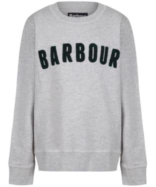 Boy's Barbour Prep Logo Crew Sweatshirt, 2-9yrs - Grey Marl