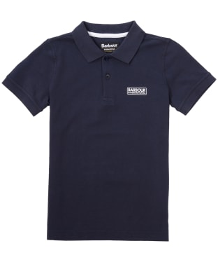 Boy's Barbour International Essentials Polo Shirt, 2-9yrs - Navy