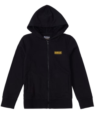 Boy's Barbour International Essential Hoody, 6-9yrs - Black