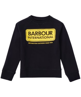 Boy's Barbour International Logo Sweatshirt, 2-9yrs - Black