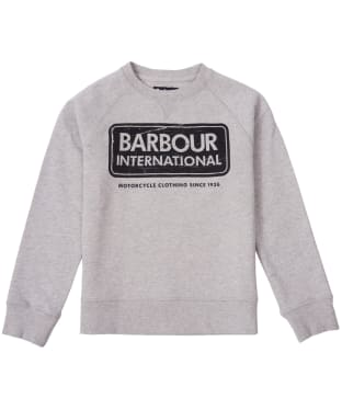 Boy's Barbour International Logo Sweatshirt, 10-15yrs - Grey Marl