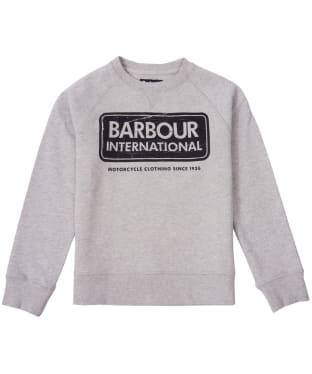 Boy's Barbour International Logo Sweatshirt, 2-9yrs - Grey Marl
